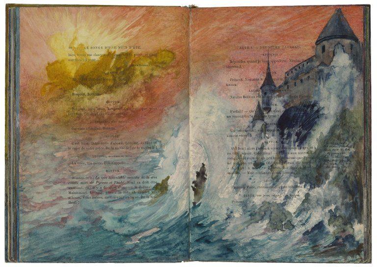 Ilustracje w egzemplarzu sztuki Sen nocy letniej