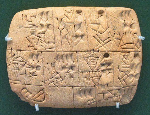 Tabliczka opisująca przydziały piwa w Mezopotamii