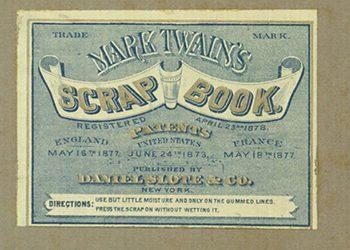 Etykieta albumu scrapbookingowego Marta Twaina