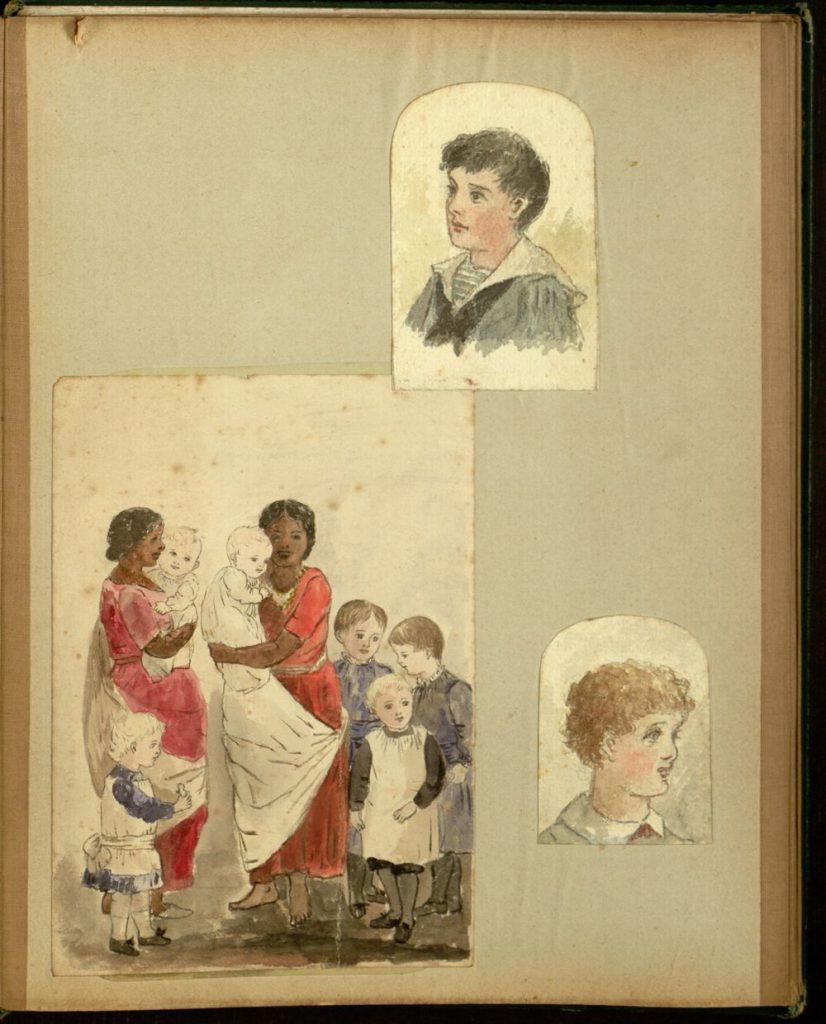 Scrapbook, Edith Good, 1880-1890