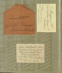 Scrapbook Marka Twaina ze zbiorów VDL